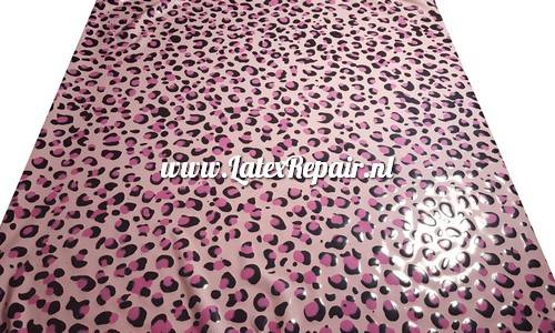 Exclusive latex sheet bespoke patterned textured leopard glitter sheeting per meter rubber latexrepair handgemaakt panter tijger bloemen